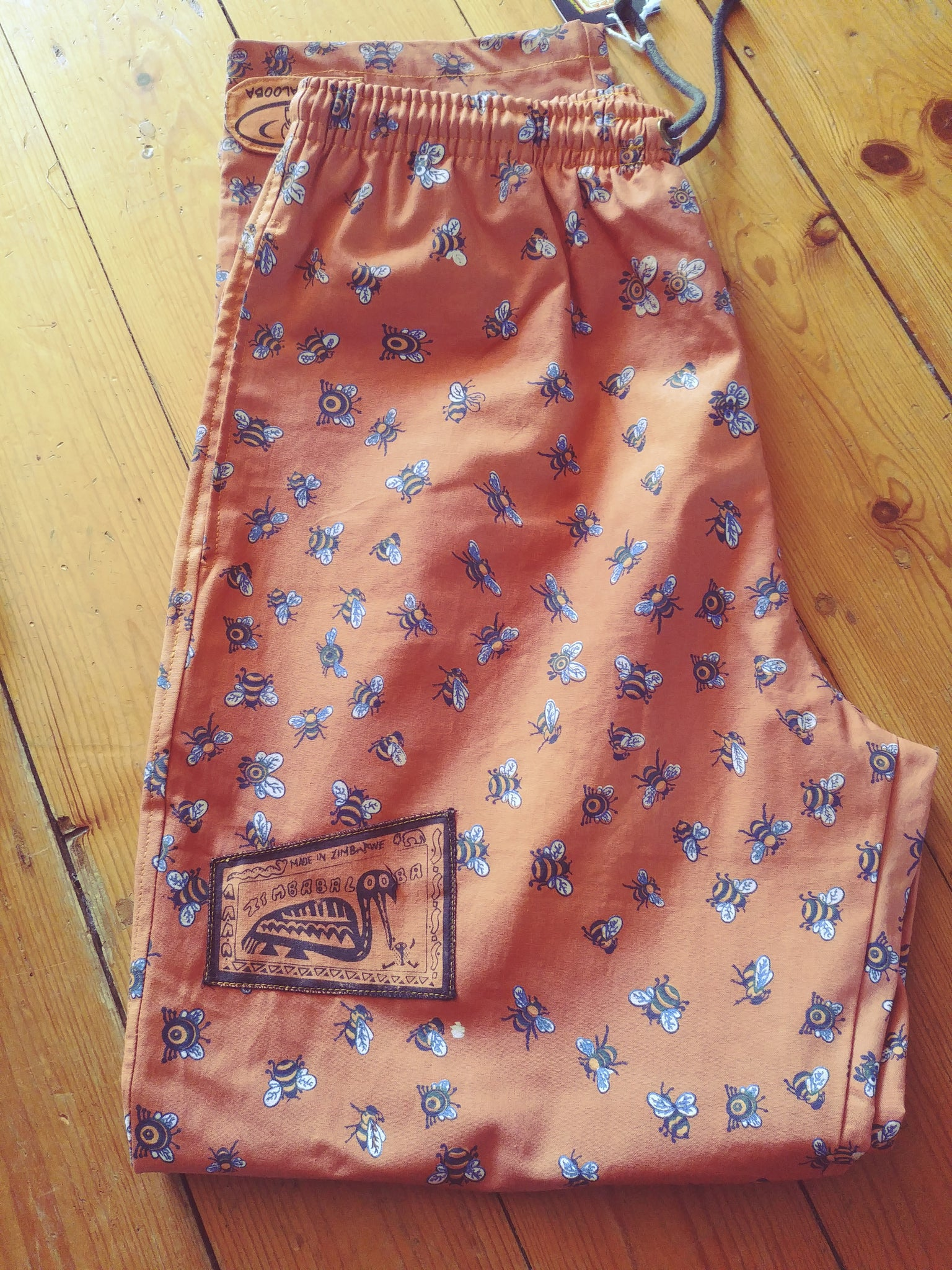 Verts - Busy Bee Print - 100% Cotton Trousers