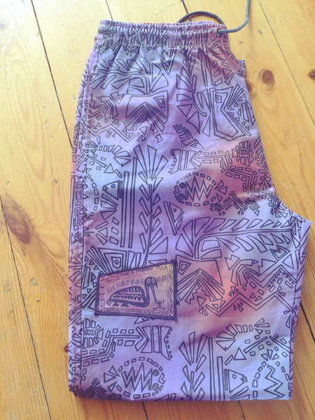 Verts - Fish 'n Bits Print - 100% Cotton Trousers