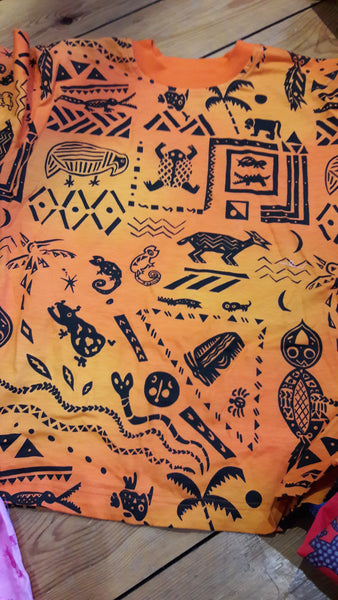 Kid's T-Shirt - Ethnic Menagerie Design