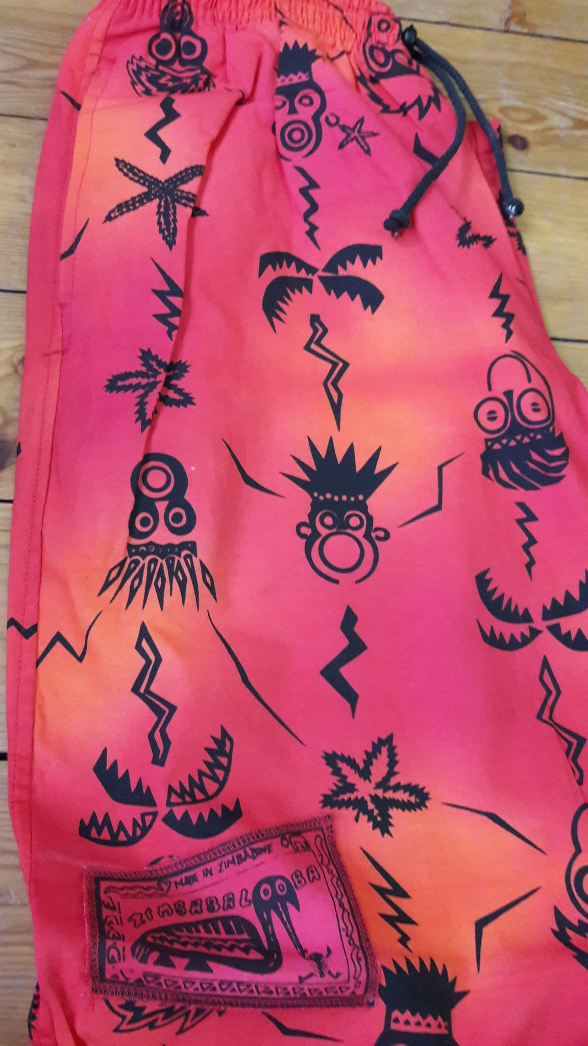 Verts - African Masks Print - 100% Cotton Trousers