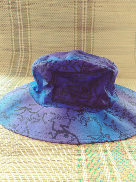 Sun Hat - African Jive print - Reversible Designs