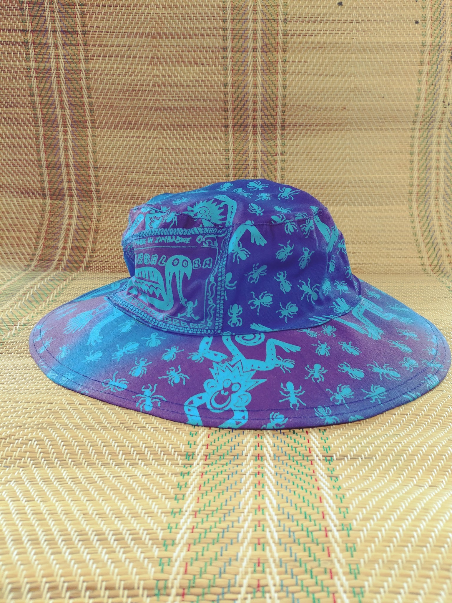 Sun Hat - Monkeys n Ants print - Reversible Designs