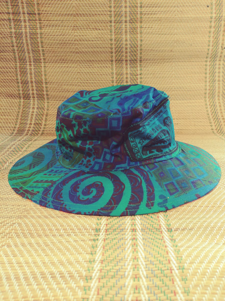 Sun Hat - Patchwork print - Reversible Designs
