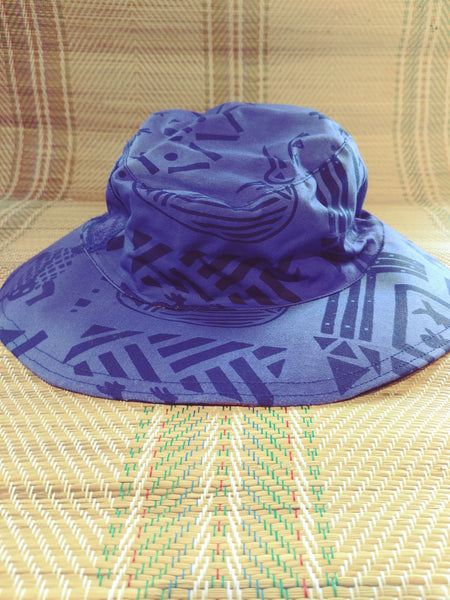 Sun Hat - Animal Story print - Reversible Designs
