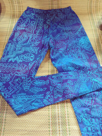 Leggings - Fish n Bits print - 100 % Stretch Cotton
