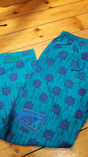 Verts - Turtle Print - 100% Cotton Trousers