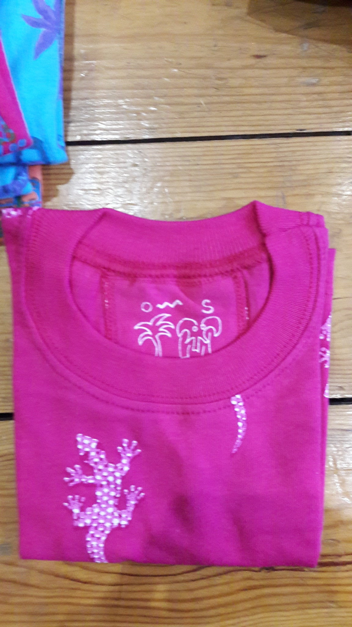 Baby Short Sleeve T-Shirts - Ethnic Gecko Design