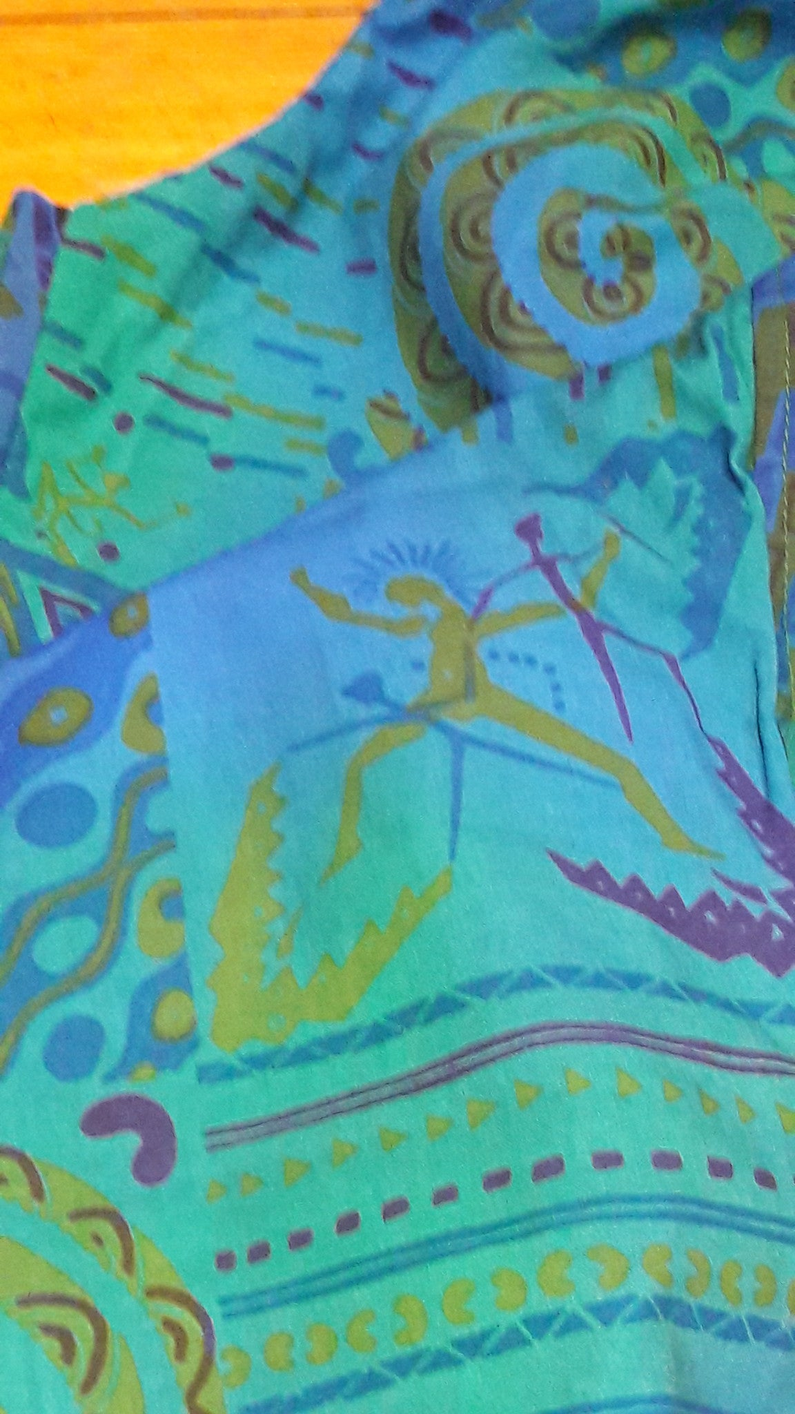 Verts - Rock Painting with Swirls Print - 100% Cotton Trousers