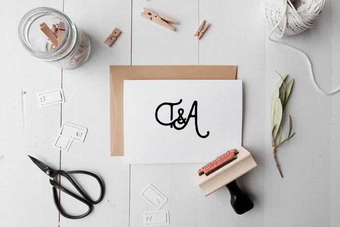 Custom Monogram Stamp-T&A Style