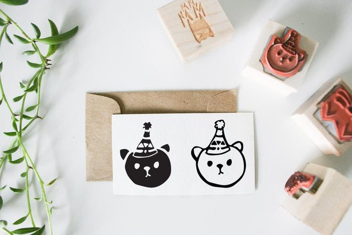 Party Bear Kids Stamp