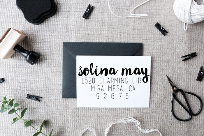 CustomAddress Stamp- Solina May Style