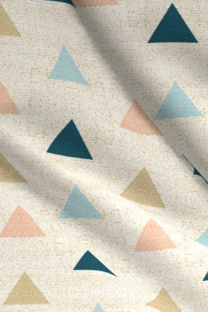 Build Your Own: Mojave Triangles Designer Fabric