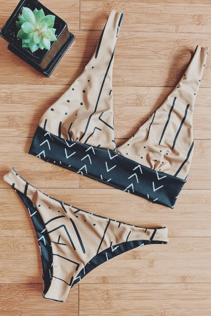 Black + Gold Kini Set