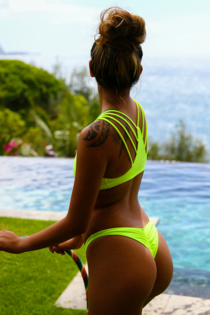Build Your Own: Neon Yellow Swimsuit