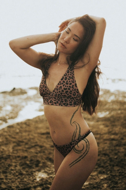 Build Your Own: Mauve Leopard Designer Swimsuit