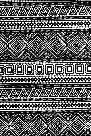 Make Your Own: Black Boho Designer Fabric Collection