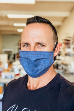 Blue Denim Mask For Guys