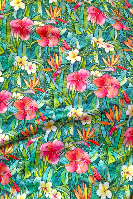Make Your Own: Bright Tropics Designer Fabric