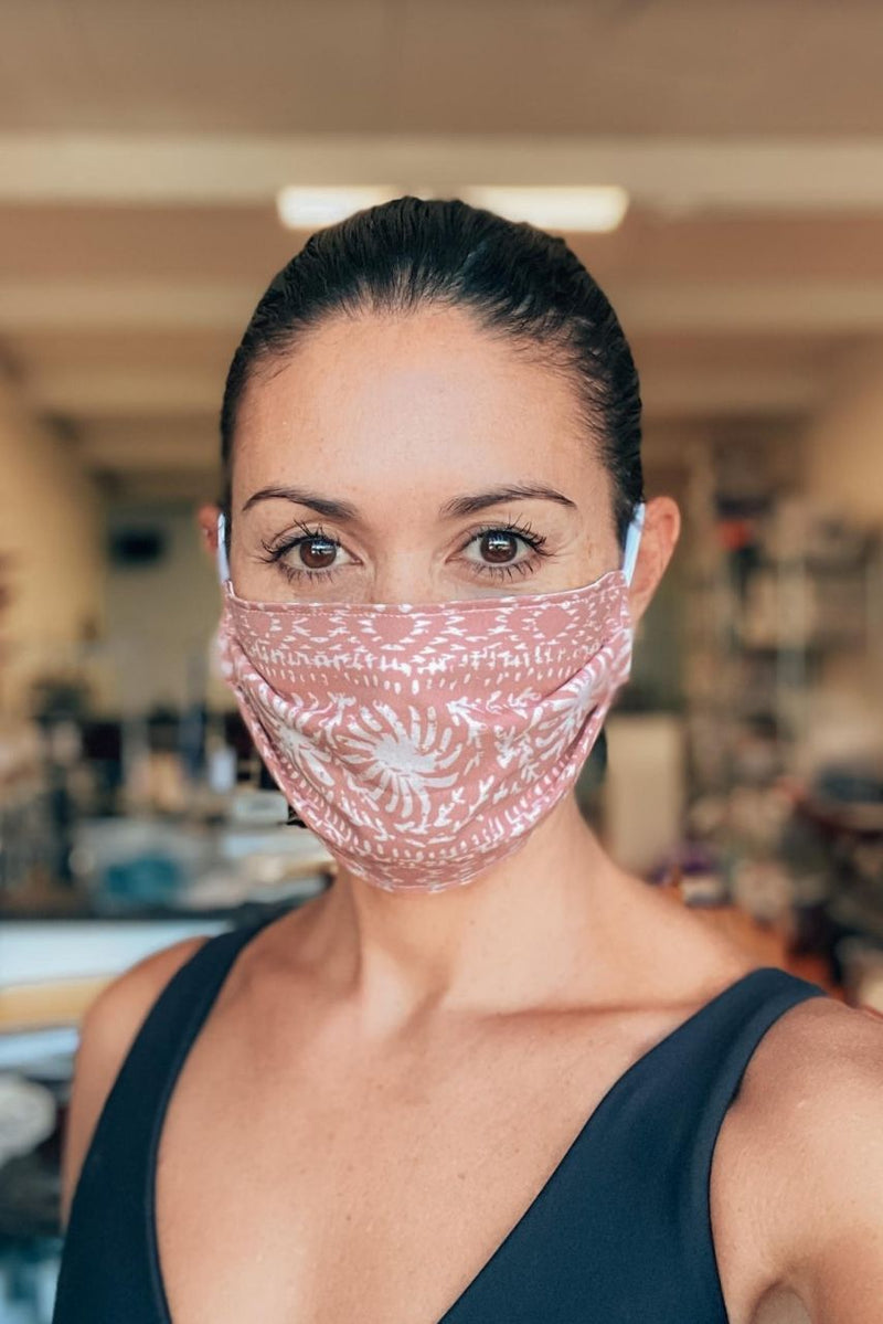 IN STOCK: Brocade Marsala Fabric Mask ($1 goes to charity!)