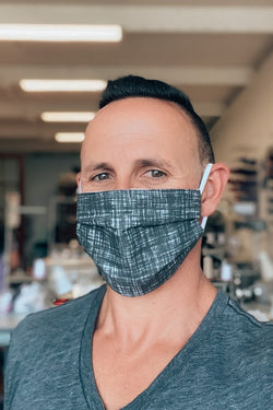 Charcoal Denim Fabric Mask
