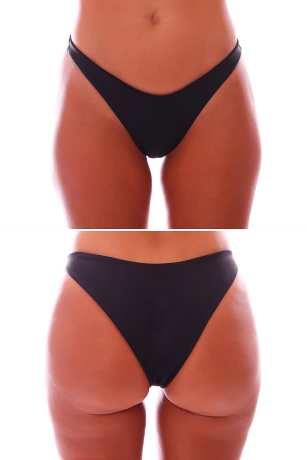 Cheeky high side bikini bottoms