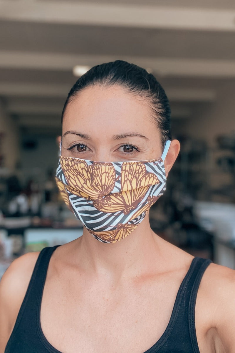 Golden Butterfly Fabric Mask