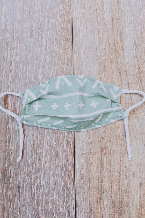 Boho Green KID MASK