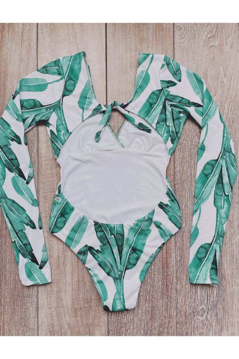 Build Your Own: Hanalei Green Palm Designer Swimsuit