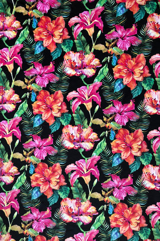 Make Your Own: Hibiscus Bliss Designer Fabric