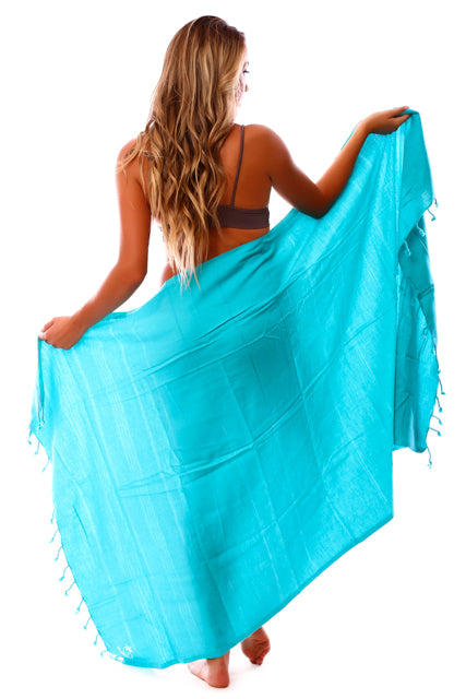 Hoa Kai Aqua Blue Turkish Towel