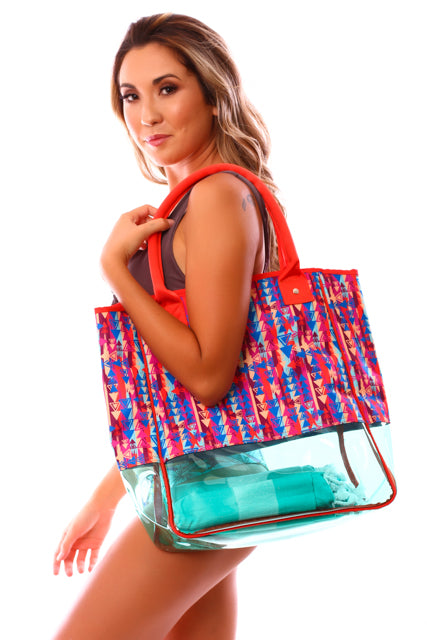 CLEARANCE: Taravana Lagoon Mauruuru Large Beach Bag