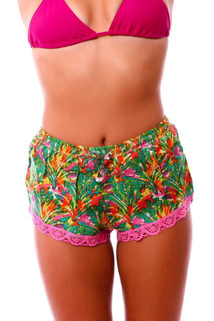 Taravana Green Rainui Shorts