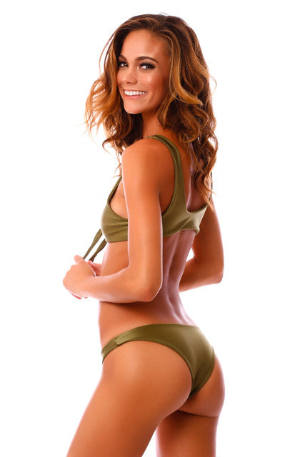 CLEARANCE: Cheeky Green Envy Kahili Bottoms