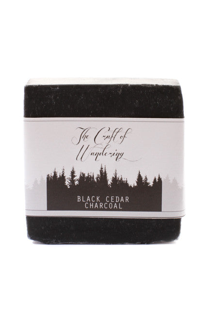 The Craft Of Wandering Black Cedar Charcoal Cleansing Bar