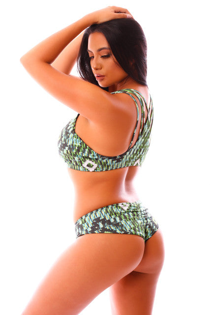 Jungle Aztec Okole Surf Bikini Bottoms