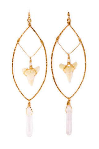 Ga Nell Shark Tooth Earrings