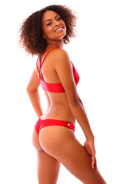 CLEARANCE: Ruby Red Seamless Kai Bottoms