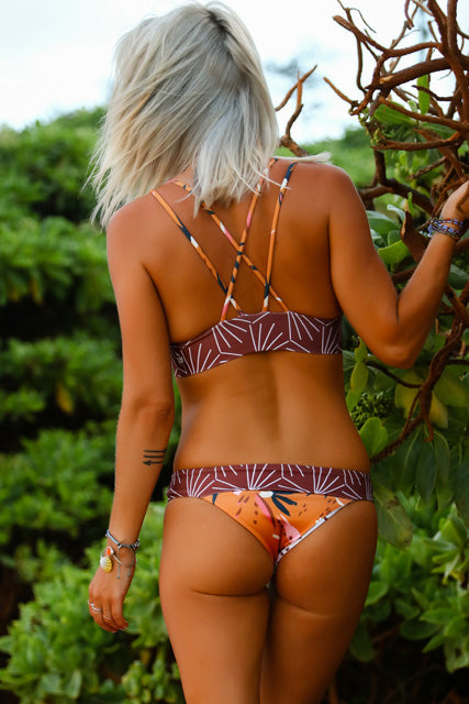 Burnt Boho Kini Set