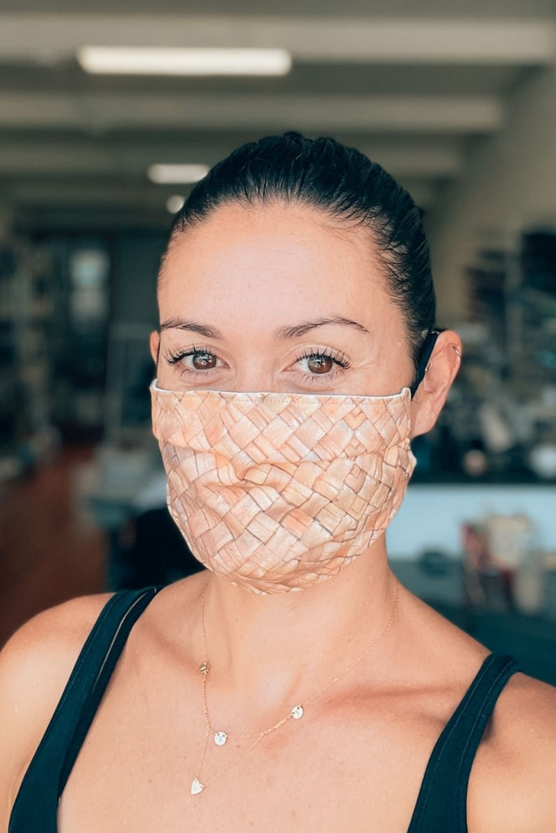 Lauhala Pleated Fabric Mask