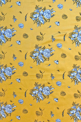 Make Your Own: Golden Roses Designer Fabric