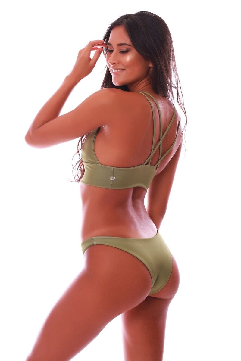 Build Your Own: Olive Green Swimsuit