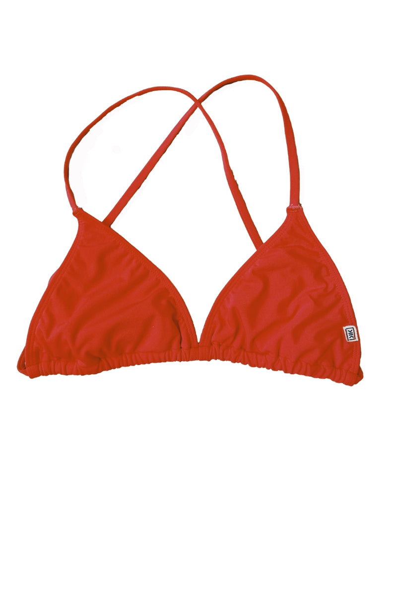 CLEARANCE: Hibiscus Red Triangle Top