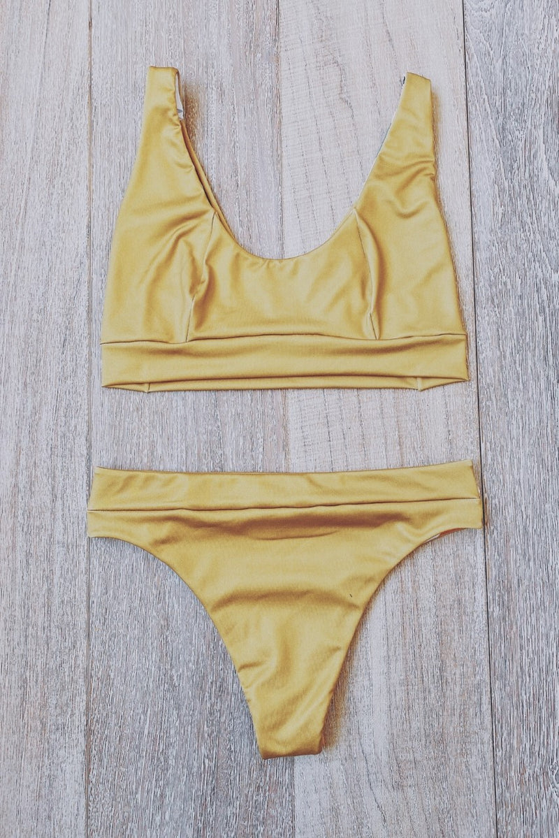Golden Tropics Custom Bikini Set