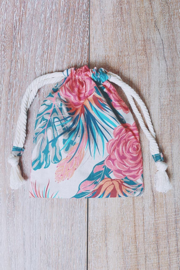 Rose Succulent Splashproof Bikini Bag
