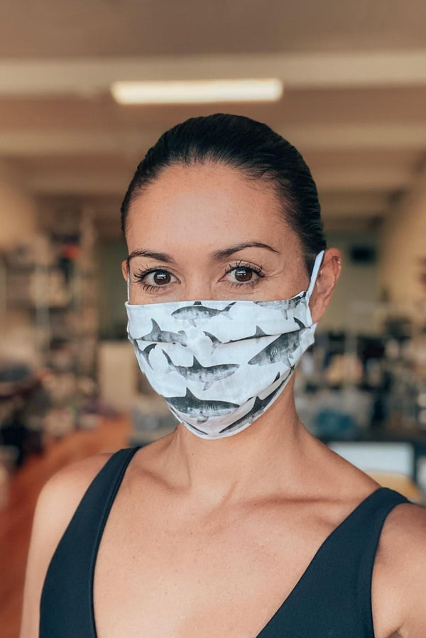 Shark Attack Fabric Mask