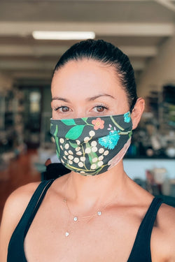 Spring Bloom Pleated Fabric Mask