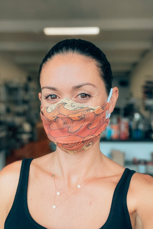 Sunset Waves 3D Face Mask