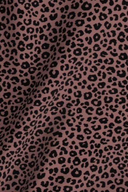 Build Your Own: Mauve Leopard Designer Fabric