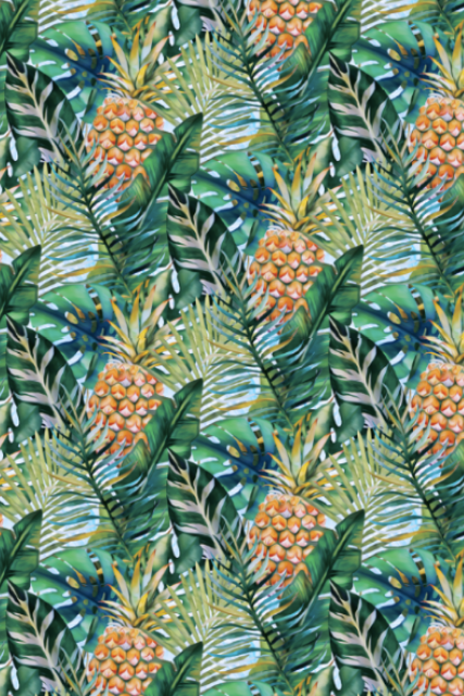 Make Your Own: Pretty in Pineapple Designer Fabric