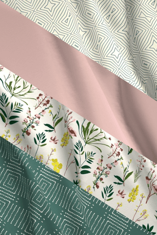 Make Your Own: Wild Flower Designer Fabric Collection